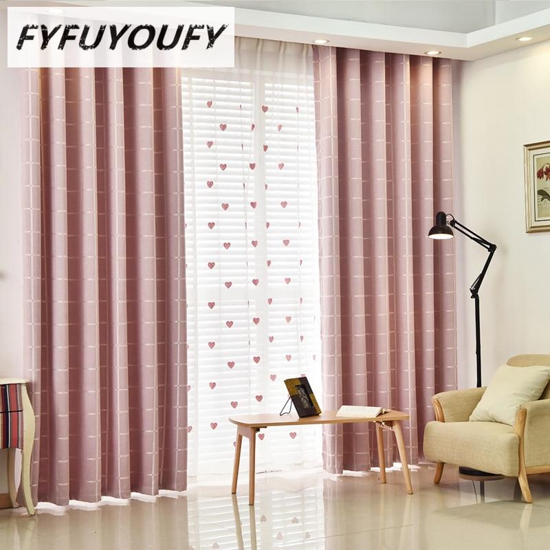 New 2016 Modern Plaid Sheer Window Shade Fabric Living