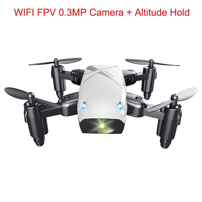 Micro Foldable RC Drone 3D Rollover Flying Remote Control Quadcopter Toys With Camera WiFi APP Control Helicopter Dron Kids Gift