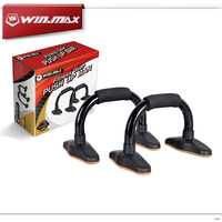 2015 Winmax New Fashion Fitness Exercise Body Building Equipment Stainless Steel Push Up Bar Push Up Stands
