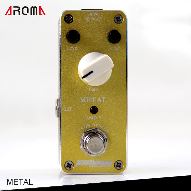 Aroma AMD-3 Metal Distortion Effects with True Bypass for Electric Guitar aroma adr 3 dumbler amp simulator guitar effect pedal mini single pedals with true bypass aluminium alloy guitar accessories