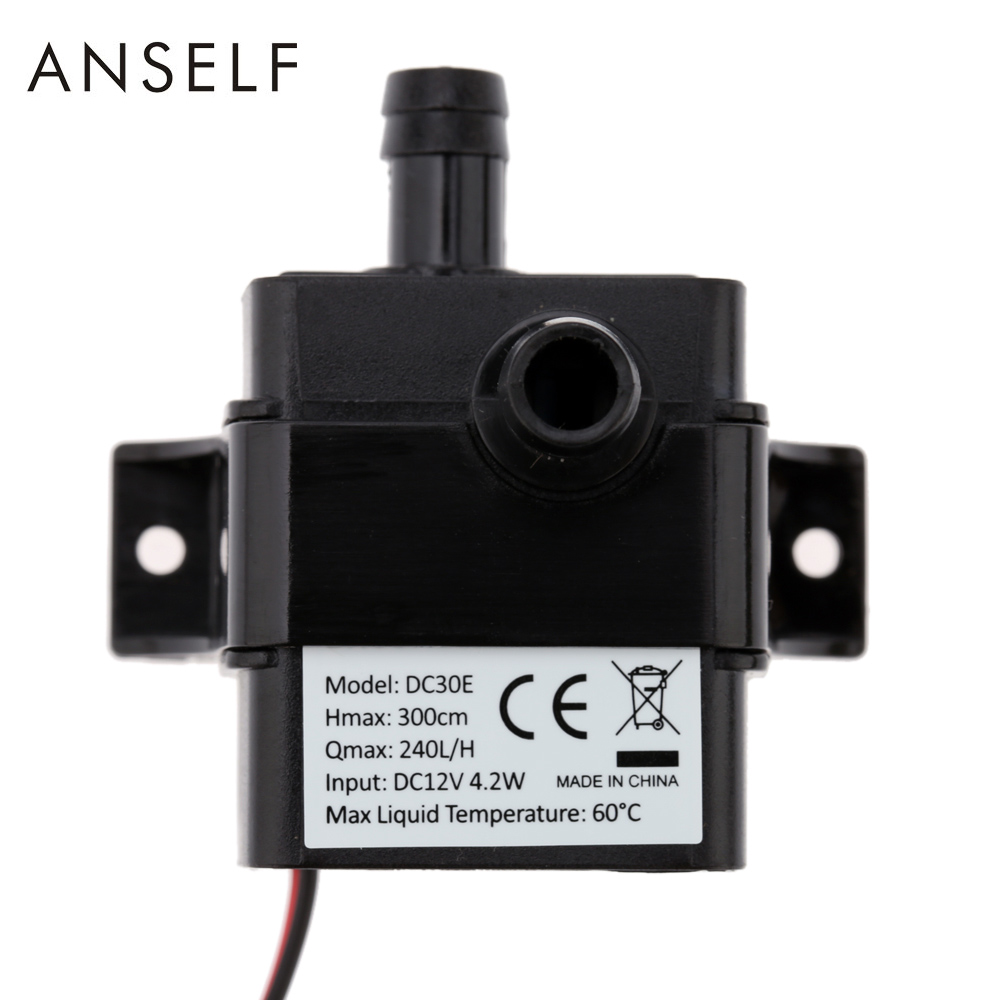 DC12V 4.2W Ultra-quiet Mini Water Pump Brushless Water Oil Pump Waterproof Submersible Fountain Aquarium Circulating dc24v brushless water pump mute large flow high efficiency for medical care coffee machine ordinary aquarium water cycle diy