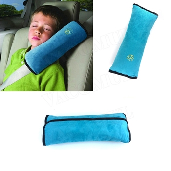 Car Seat Belts Pillows For Baby Children Safety Strap Car Headrest Vehicle Safety Strap Shoulder Pads Cushion Colorful image