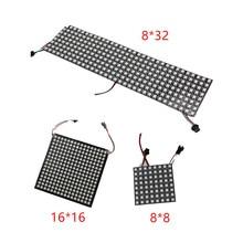 6 6 16 16 8 32 Pixel 36 pixels 256 Pixels WS2812B Digital Flexible LED Panel