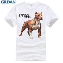 Awesome T Shirts For Guys O-Neck Short Sleeve Regular Mens  Pit Bull American Pitbull Standing Proud Tee Shirt