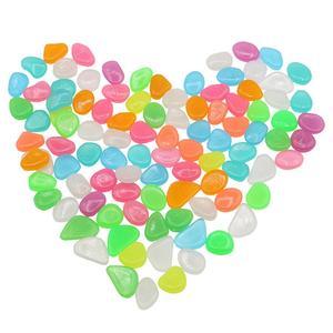 Image 4 - Pokich 100 uds. De piedras artificiales luminosas que brillan en la oscuridad, pasarelas, jardín, piedra Artificial fluorescente para decoración de acuario