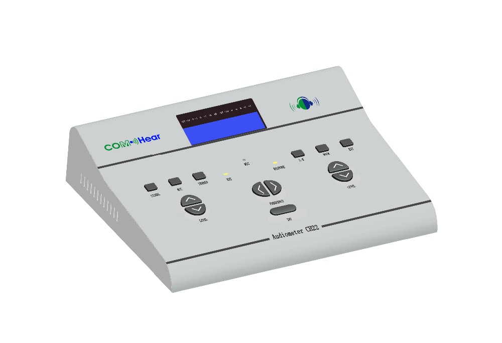 Best quality medical equipment CH22 hearing loss tester for professional testing air conduction hearing audiometer clinical audiometer hearing loss testing audiometer digital machine audiogram 2 channesl audiometer portable device in hosiptal