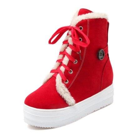 Qualité D'hiver Beige Bottes Femme Neige 825 52 Nouvelle Russie Femmes Milieu Chaud Boot rouge 34 Chaussures Grande Brevet Taille 2017 Haute Épais noir jaune 1KlFJc