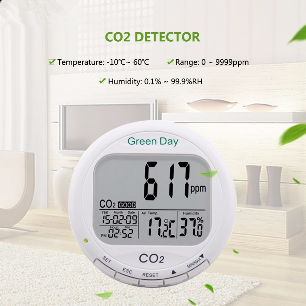 Indoor air quality monitor CO2 detector CO2 meter gas detector Thermometer hygrometer humity meter CO2 monitor gas analyzer цена 2017