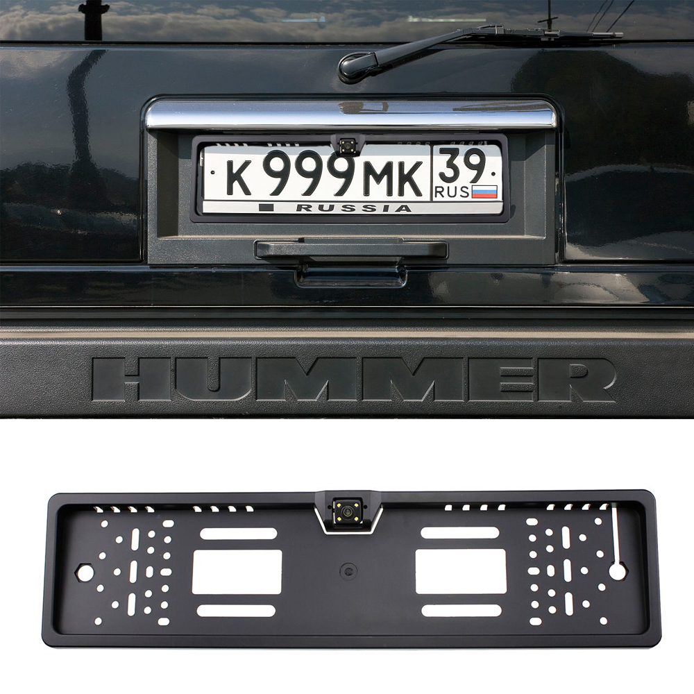 Podofo 140 grados impermeable placa de matrícula europea reserva número de coches vista trasera Cámara 4 LED de visión nocturna- estilo