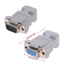 5pcs/lot DB-9 RS232 Male Female Connector with Socket D-Sub 9 pin PCB Connector 24 pcs d sub 15 pin female connector right angle 3 rows