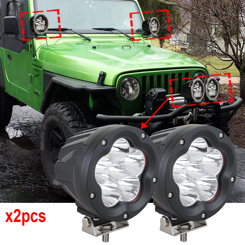 2x Supper bright 5 inch Led Auxiliary Light 60w LED Work lights 12V 24v with Mask Cover Driving lamps for Off road vehicle truck цена