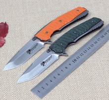 Hot! Tactical Folding Knife G10 Steel Handle D2 Blade Outdoor Camping Hunting EDC Rescue Portable Multifunction Tool Knives
