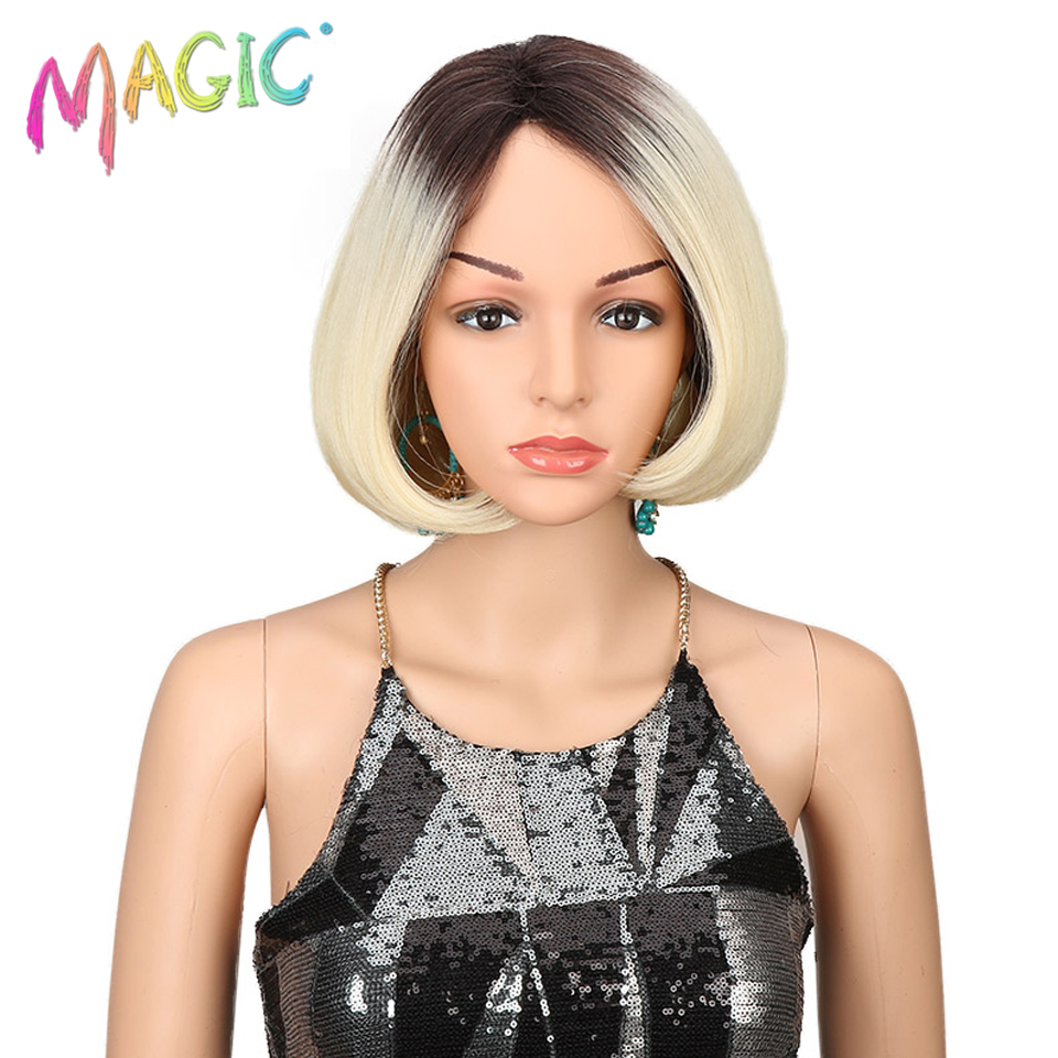 MAGIC Hair Cosplay Wig Styled 10 Inch Short Bob Wigs For Women Ombre Blonde Wigs Heat Resistant Hair Free Shipping