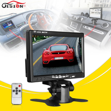 DC 12V 7 Inch Color TFT LCDCar Monitor Rear View Headrest Display With 2 Channels Video