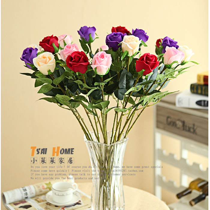 Rose silk flower artificial flowers long stem in artificial dried rose silk flower artificial flowers long stem in artificial dried flowers from home garden on aliexpress alibaba group mightylinksfo