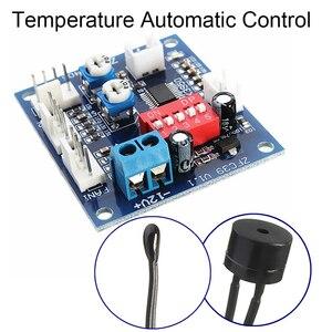 Image 2 - DC 12V 5A PWM PC CPU Fan Temperature Control Speed Controller Board Speed Controller Temperature Probe Buzzle