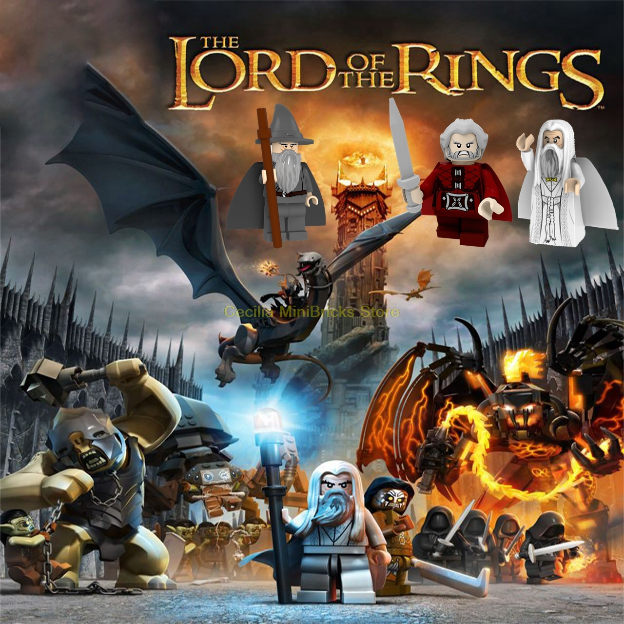 Legoing Hobbit The Battle Of The Five Armies Gandalf Bilbo Smaug Building Blocks Compatible With Legoings Toys For Children Toys & Hobbies