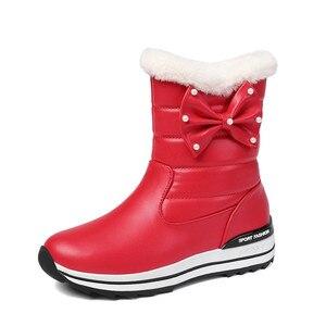 Image 3 - MORAZORA 2020 جديد وصول النساء حذاء من الجلد مقاوم للماء عدم الانزلاق الثلوج الأحذية الدفء بسيطة أحذية الشتاء غير رسمية امرأة حذاء مسطح