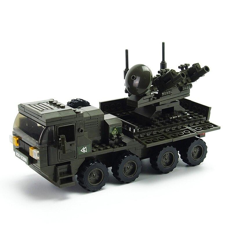 Askeri Ordu Tank Blok Yapı Hummer Uçaksavar topçu Bloklar silah DIY çocuk oyuncakları Hediye
