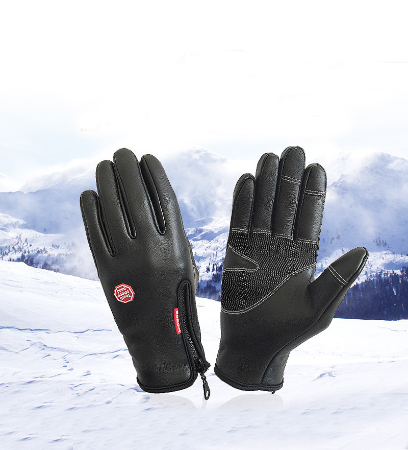 New PU Waterproof Horse Riding Gloves Touch Screen Horse Riding Equestrian Gloves Horse Riding Equipment Winter Snow Ski Gloves 1