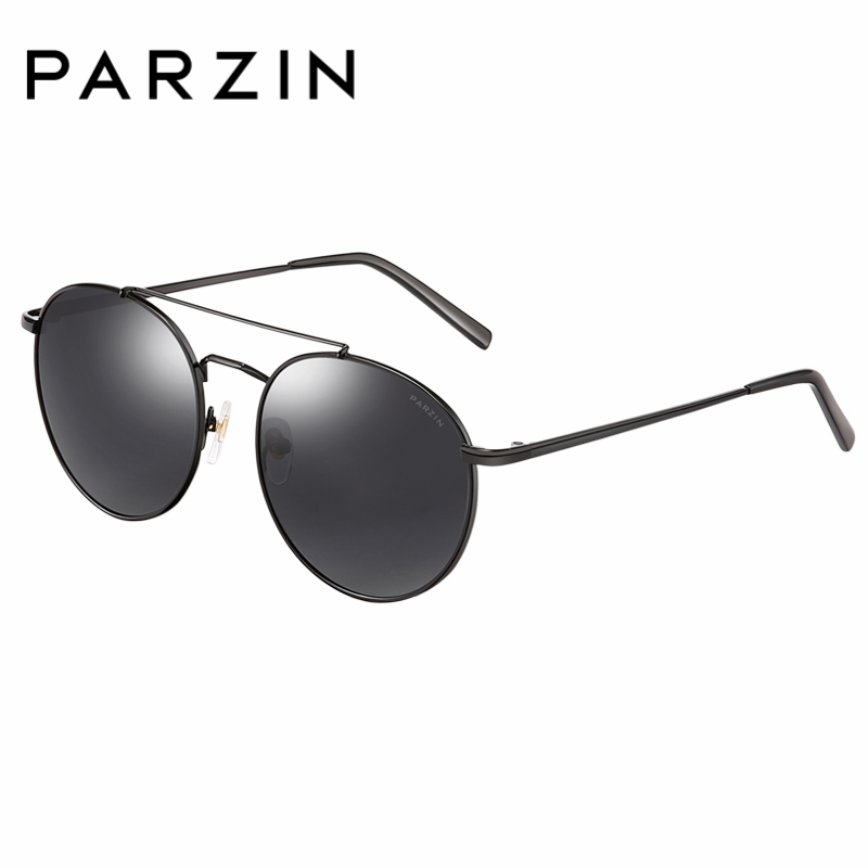 PARZIN Brand Polarized Sunglasses Men Women Lovers Retro Classics Fashion Round Lens Shield Anti UV400 Driving