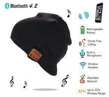 2020 Caldo Cap di Alta qualità senza fili di Bluetooth Bluetooth4.2 cappello di lana Altoparlante Della Cuffia Mic cappello Elegante del Trasduttore Auricolare di Trasporto regalo Di Natale