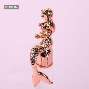 Image 5 - Never serie de sirenas bolígrafos de bola de 0,7mm, bolígrafo de lujo de oro rosa para oficina, regalo de papelería, suministros escolares para estudiantes