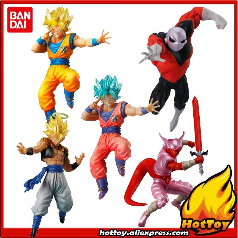100% D'origine BANDAI Bataille VS Gashapon Toy Figure Partie 4-Ensemble complet de 5 Pcs Goku Jiren Gogeta Janenba de Dragon Ball SUPER
