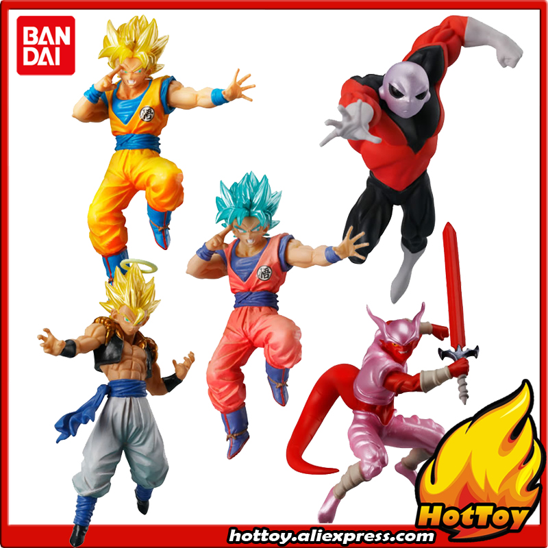 100% Original BANDAI Battle VS Gashapon Toy Figure Part 4 - Full Set of 5 Pcs Goku Jiren Gogeta Janenba from Dragon Ball SUPER sailor moon capsule communication instrument machine accessory gashapon figure anime toy full set 100