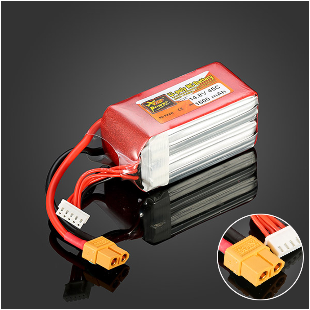 1pcs ZOP Power LiPo Battery 14.8V 1500mAh 4S 45C XT60 Plug For RC Quadcopter Drone Helicopter Car Airplane  цена и фото