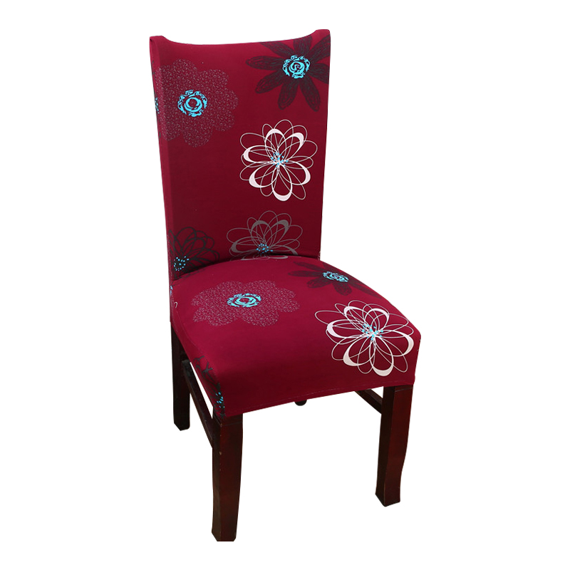 Spandex Stretch Chair Covers Polyester Printed Elastic