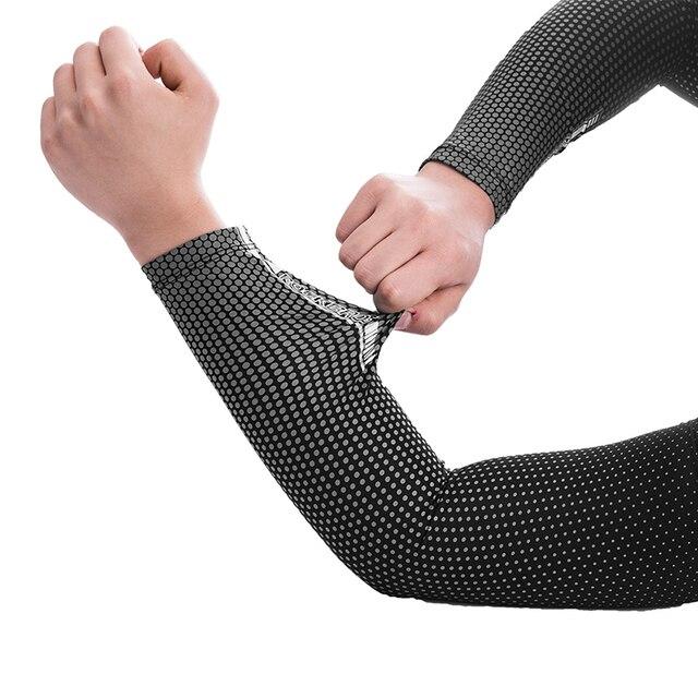 Rockbros suncreen acampamento braço manga ciclismo braço de basquete mangas mais quentes uv proteger esportes dos homens engrenagem segurança perna aquecedores capa 4