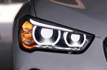 2 uds. De faros delanteros para coche X1 2016 ~ 2018 F48 E84 para X1, luces LED DRL hi/lo, bi Xenon de Xenón HID