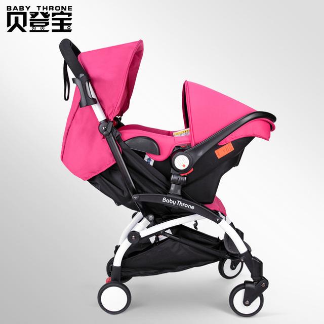 Trono bebê Carrinho De Bebê De Viagens Portátil Dobrável Guarda-chuva Carrinho de Bebê + Cesta Pode Sentar Carro Do Bebê de Segurança