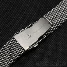 20mm Argent de Haute Qualité Style De Mode Hommes En Acier Inoxydable Maille de Courroie De Bande Bracelet + 2 pcs Printemps Bars