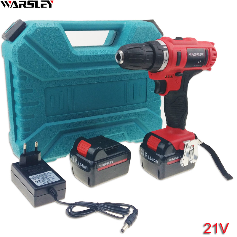 21V power tools electric Drill Electric Cordless Drill Screwdriver Electric Tools Mini Battery Drill electric drilling 2 Battery подвесная люстра omnilux oml 76803 15