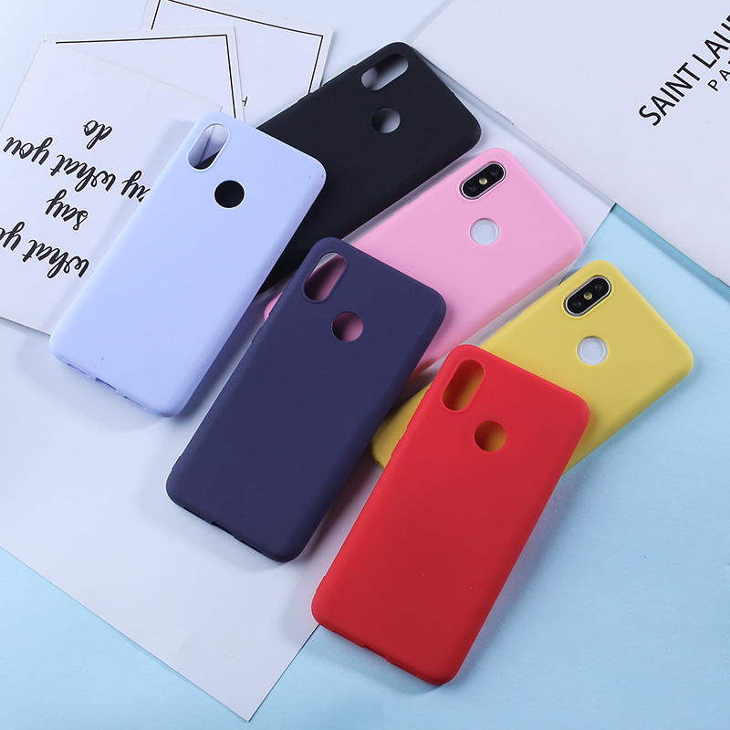 Candy TPU Case For Xiaomi Mi A2 Lite 9 8 Matte Color Silicone Phone Redmi Note 7 6 5 Pro Cover