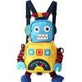 2016 nuevo bolso de escuela del morral del bebé anti-perdida niño robot backpackd Carácter Mochila Infantil Niños del Bolso de Escuela Del Estudiante Mochila