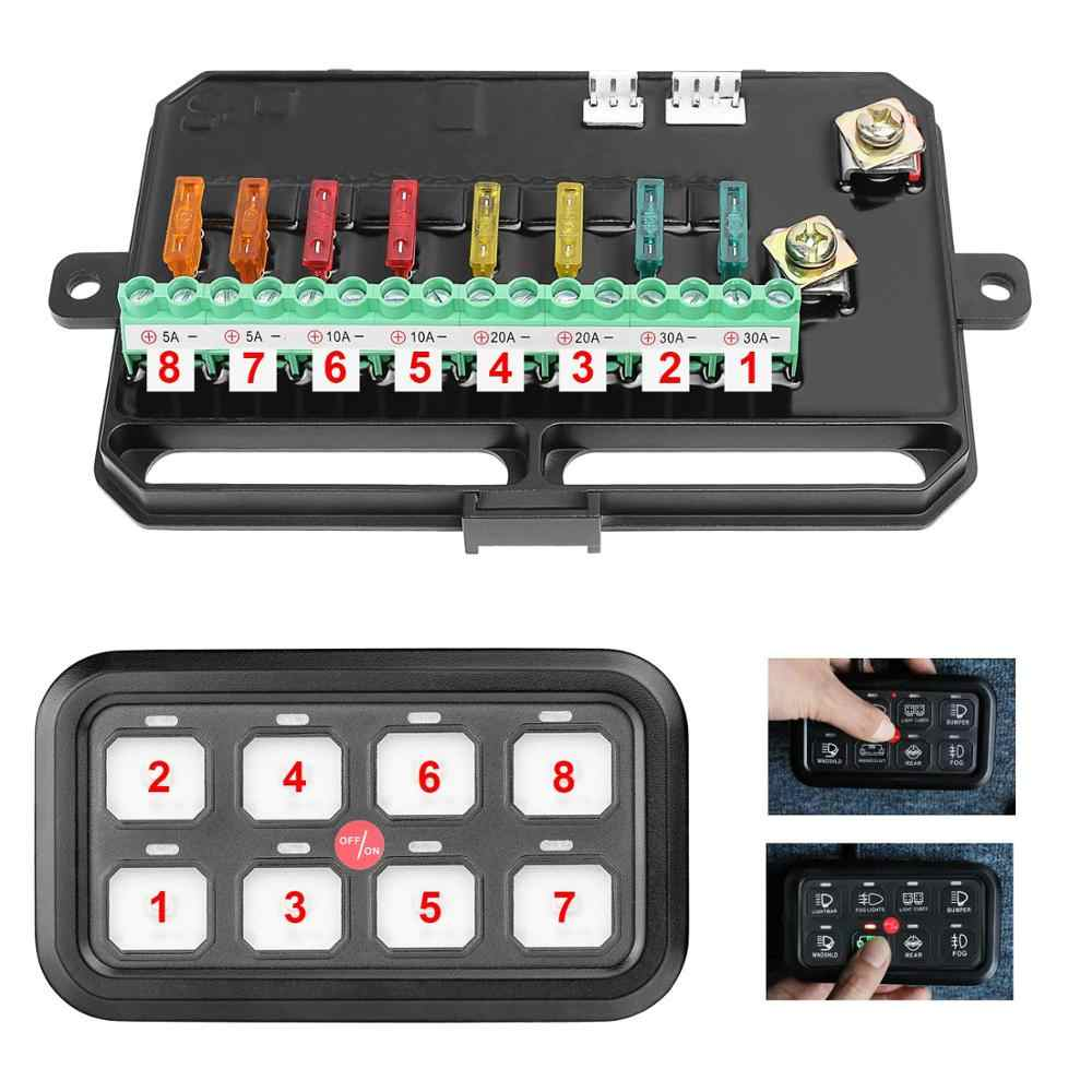 8 Gang Switch Panel Electronic Relay System with Circuit Control Box  Gang Fuse Box on 8 battery box, 8 gear box, 8 breaker box, 8 spring box,