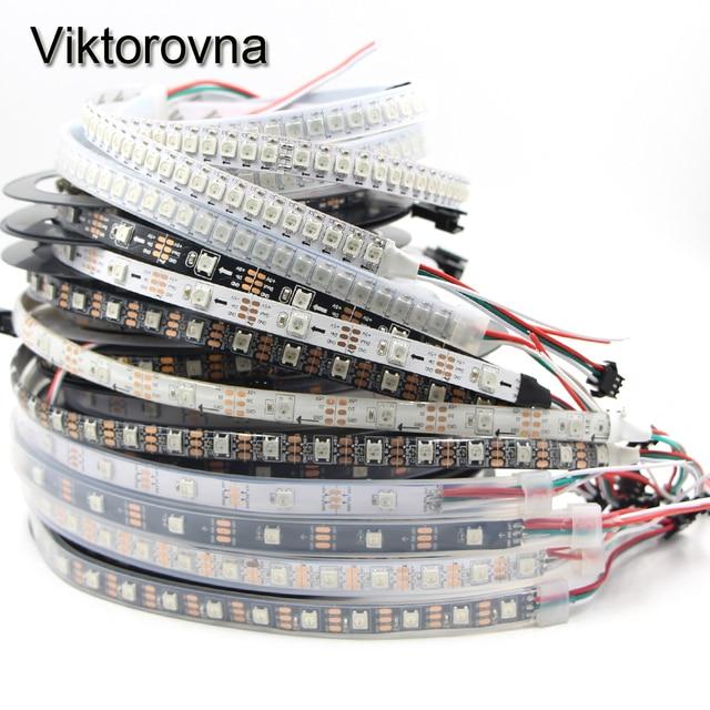 WS2812B ws2812 30/60/144 pixel 5050 rgb einzeln adressierbaren led-streifen licht volle farbe band lanp IP30 /IP67 wasserdichte DC5V