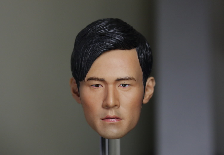 1/6 scale figure doll head shape for 12 action figure doll accessories.Asia King Jay Chou head sculpt 1 6 scale comedy king of france la grande vadrouille with 2 head figure doll model 12 action figure doll collectible figure
