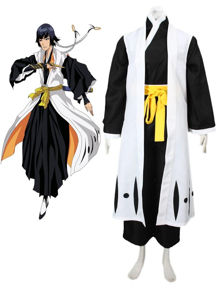 Livraison gratuite eau de javel Gotei treize Soi Fon capitaine de la 2nd Division Soul Reaper Kimono Anime Cosplay Costume
