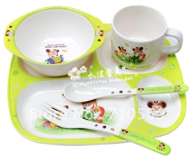 Korean Childrenu0027s Cutlery Set Baby Tableware Melamine Imitation Ceramic Cartoon Bowl Plate Cup Spoon In Dishes From Mother U0026 Kids On