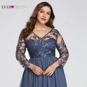 Image 4 - حجم كبير فستان عروس من أي وقت مضى جميلة EZ07633 أنيقة ألف خط الدانتيل يزين رداء حفلات طويلة 2020 Vestido De Madrinha