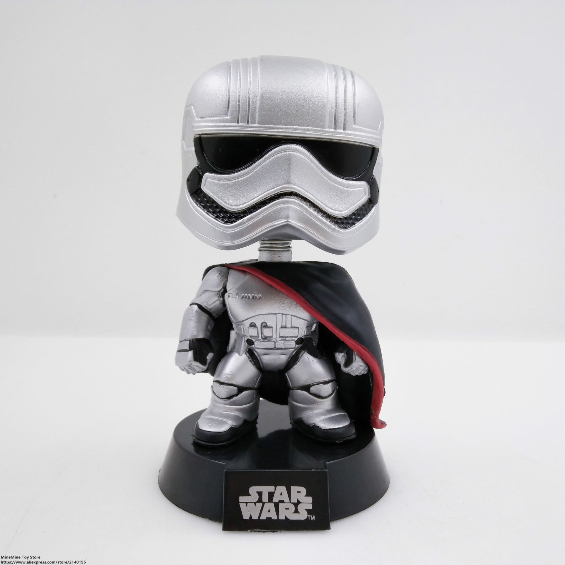 ZXZ Star Wars Captain Phasma 12cm Q version Action Figure Posture Anime Decoration Collection Figurine Toys model children