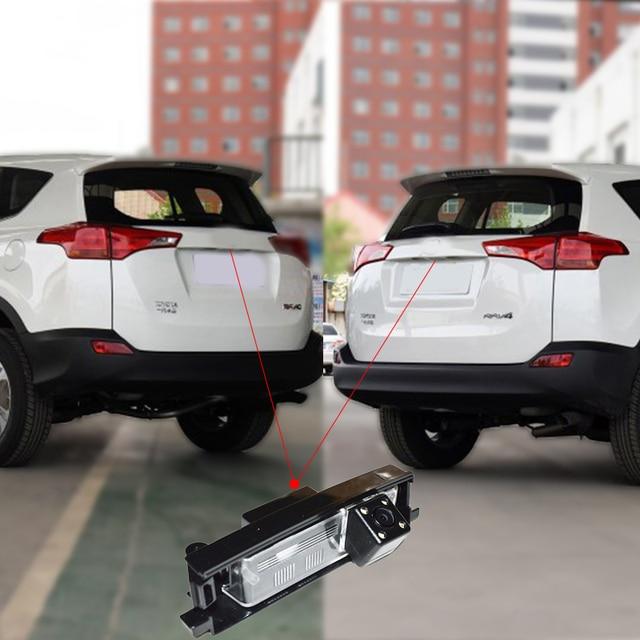 Ver traseira do carro invertendo Backup camera retrovisor para Toyota RAV4 com night vision 170 graus ângulo de visão à prova d' água frete grátis