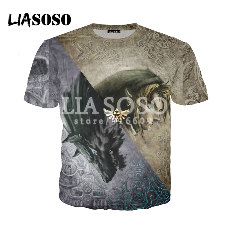 7690396c LIASOSO nuevo juego Zelda Maps camisas 3D impresión camiseta/Sudadera con  capucha Hipster buena ...