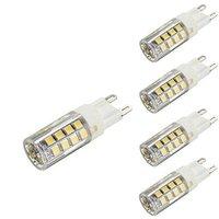 Lightinbox 4 Pack G9 LED Bulb Natural White 5W Replacement for Halogen Lamp Not Dimmable Ceramic Light Lamp 360 Degrees Beam