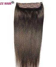 ZZHAIR 100g-200g 16″-28″ Machine Made Remy Hair One piece Set 5 Clip-in 100% Human Hair Extensions Natural Straight Hair