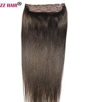 ZZHAIR 100g 200g 16 28 Machine Made Remy Hair One piece Set 5 Clip in 100% Human Hair Extensions Natural Straight Hair